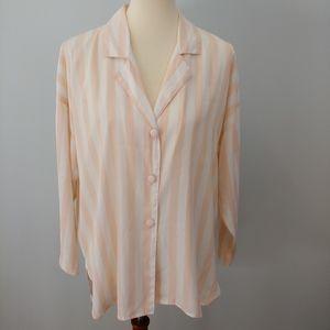 LANE BRYANT CACIQUE Sleep Shirt Pink Stripe, S
